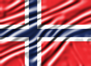 Wavy flag of Norway 2