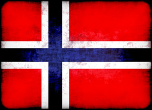 Norwegian flag with grunge texture