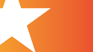 Orange background white star