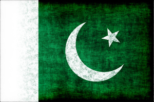 Pakistani flag black grunge texture