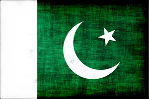 Pakistani flag with grunge texture
