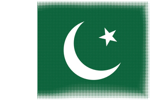 Flag of Pakistan with halftone pattern