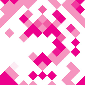 Pink pixels abstract background