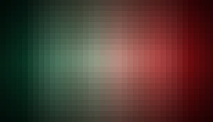 Pixel pattern on red and green background