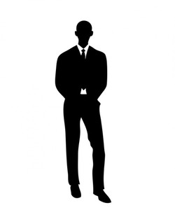 Silhouette of one businessman