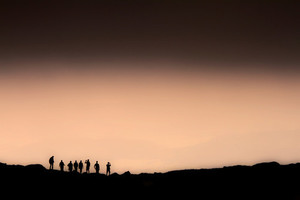 Hikers silhouettes