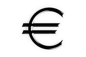 Euro symbol isolated