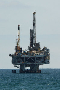 Oil drilling and platform
