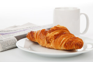 Croissant and cup of tea