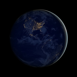 Planet Earth satellite view