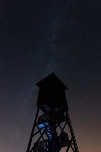 Observation tower at night
