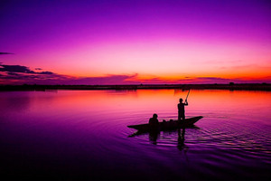 Fishing In Sunrise