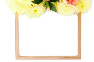 Frame decorated with flowers