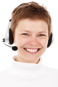 Headset wearing by girl