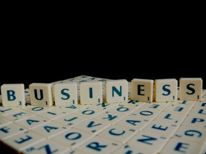 Business Scrabble word
