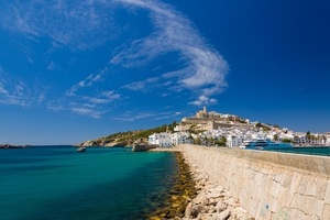 Ibiza island on a summer day