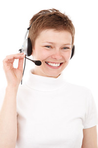Headset using by woman