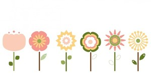 Flowers clipart isolated