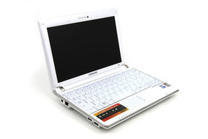 White mini laptop
