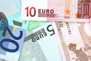 Euros in various values