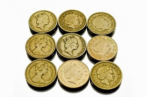 British coins isolated