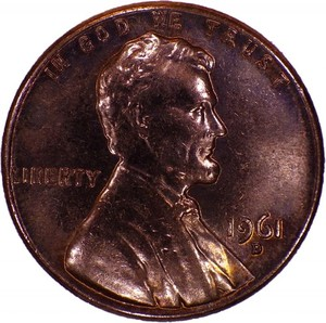 American cent isolated
