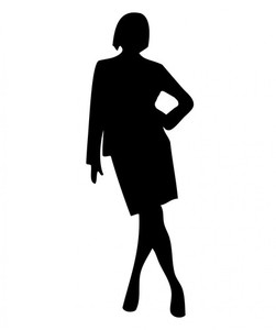 Woman silhouette isolated