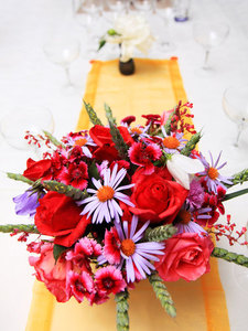 Floral arrangement on the table
