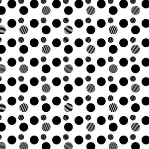Black dots pattern