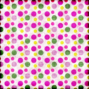 Colorful polka pattern