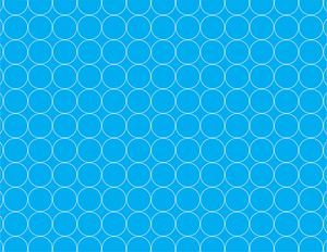 Circles pattern on blue background