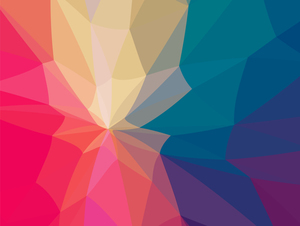 Polygonal colorful pattern background
