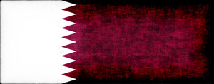 Qatar flag with filthy stains