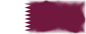 Flag of Qatar with halftone pattern