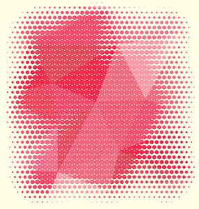Red halftone pattern