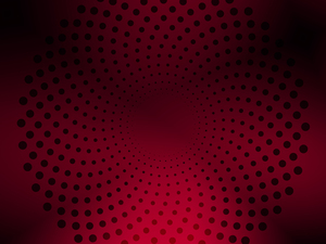 Red background black dots