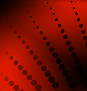 Dark red background with bursting dots