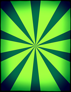 Green background with radial beams
