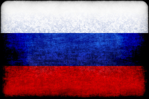 Flag of Russia with dirty stains