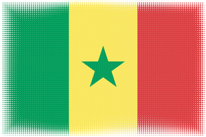 Senegal flag with halftone effect