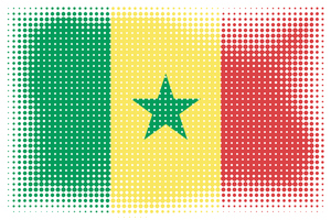 Senegal flag halftone effect