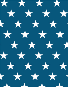 White stars on blue background