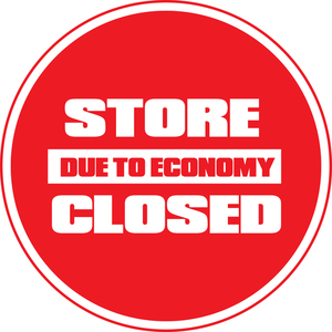 Store closed sticker