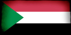 Sudan flag in frame
