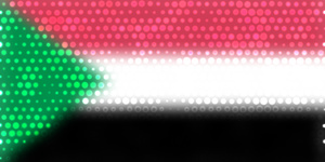 Flag of Sudan with dots