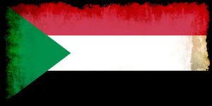 Sudan flag in grunge style