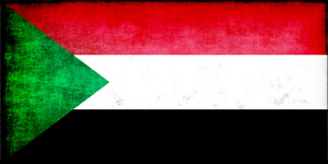 Sudan flag in three-color