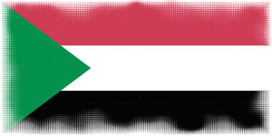 Sudan flag in halftone