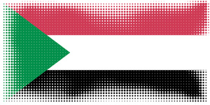 Halftone of Sudan flag