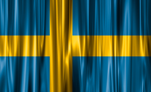 Wavy flag of Sweden
